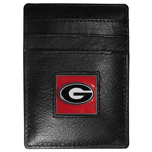 NCAA Georgia Bulldogs Leather Money Clip/Cardholder ()