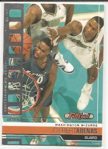 Gilbert Arenas 2006-07 Topps Full Court Photographer's Proof #604/1999 Washington Wizards Parallel Card #26