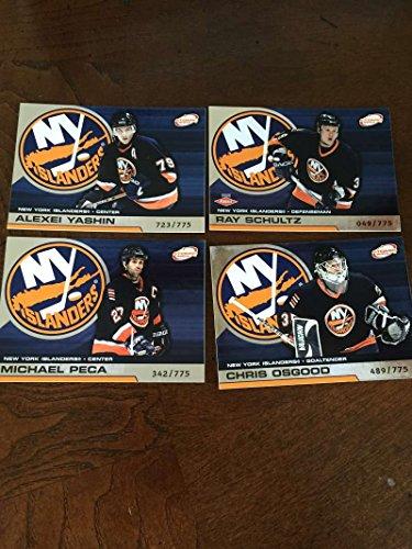 2002-03 Pacific Atomic Hobby New York Islanders Team Set Rare 4 Cards ()