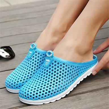 LvYuan Mujer-Tacón Plano-Suelas con luz Zapatos de los pares-Sandalias-Exterior Informal-Materiales Personalizados-Azul Rosa Pink