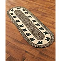 Country Western Oval Braided Rug or Runner (20 x 60, Bear)