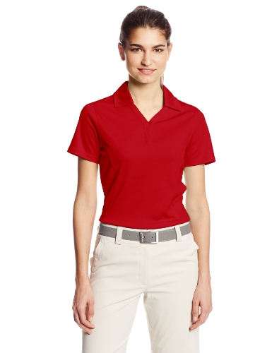 Cutter & Buck Women's Drytec Genre Short Sleeve Polo, Cardinal Red, ()