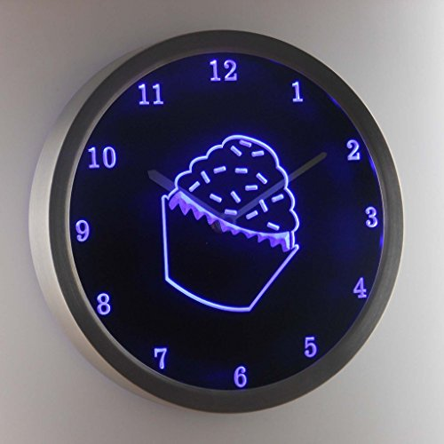 nc1000-b Sprinkled Cupcake Shop Kitchen Neon Sign LED Wall Clock (Cup Neon Sign)