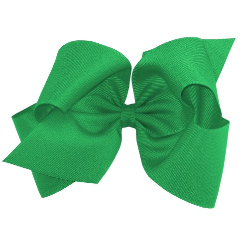 Wee Ones Baby Girls King Grosgrain Hair Bow On A Weestay Clip W Plain Wrap   Green