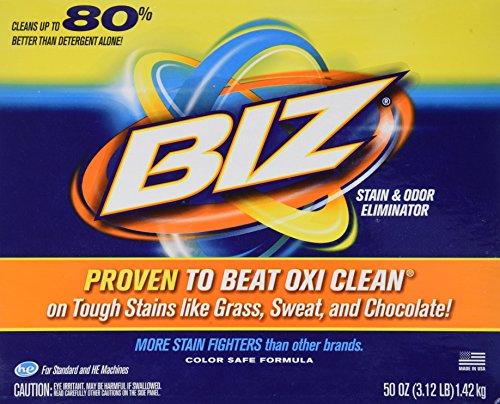 (Biz Detergent Stain and Odor Eliminator, 50 Oz)