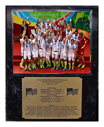 2015 Fifa Us United States Womens Champions Team 8x10 Photo Picture Plaque with Engraved Nameplate by GFSF