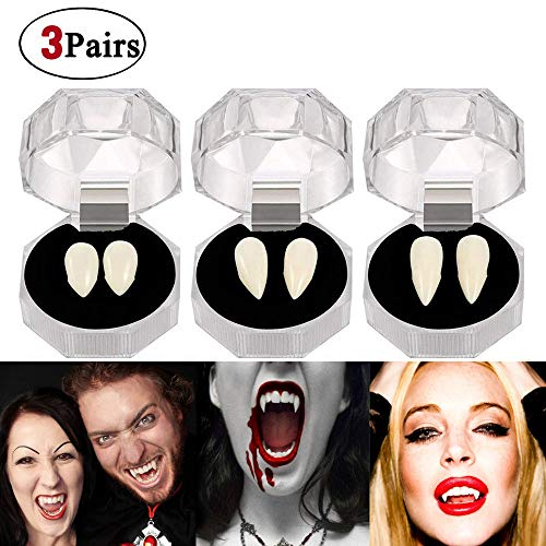 Vampire Fangs Teeth - Halloween Party Zombie Costume Cosplay Props Supplies Decorations(3 Pairs) for $<!--$8.99-->