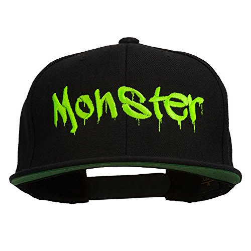 e4Hats.com Halloween Monster Embroidered Snapback Cap - Black OSFM]()