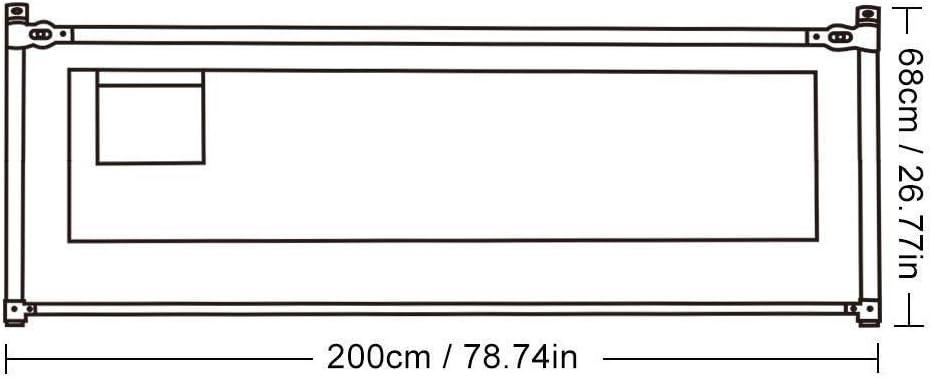 Barri/ères de lit Barri/ère de lit portable for b/éb/és Size : 200cm*68cm enfants et Pliable Lavable Barri/ère de s/écurit/é Lit de s/écurit/é ferroviaire amovible Protection Lit enfant