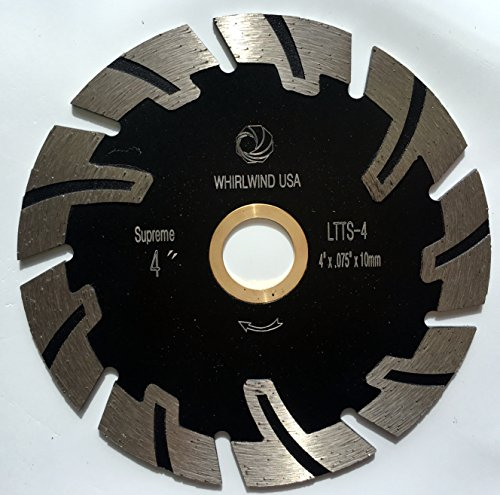 """Whirlwind USA LTTS 4 in. Dry or Wet Cutting General Purpose Power Saw T Segmented Diamond Blades for Granite Stone Concrete (Factory Direct Sale) (4"""")"""