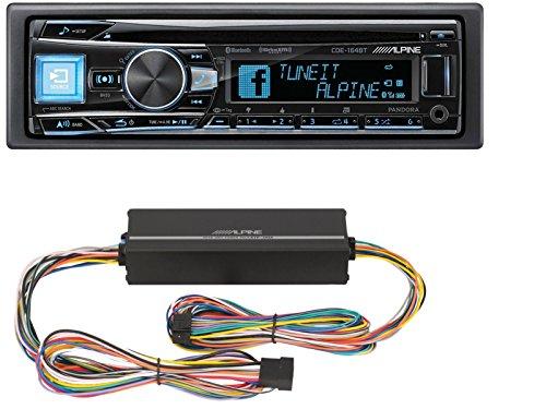 Alpine CDE-164BT in-Dash 1-DIN CD/MP3 Receiver with Bluetoot