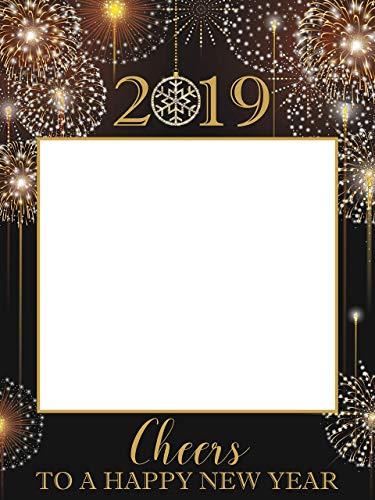 Amazoncom Happy New Year Photobooth Frame Fireworks Nye
