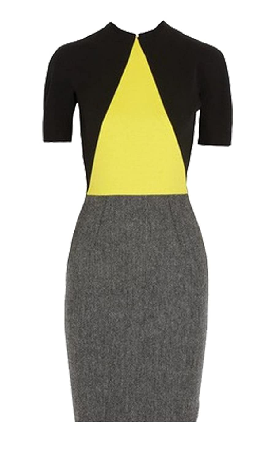 AmyStylish Women's Splice A Line Homecoming Pencil Skirt Package Hip Dress
