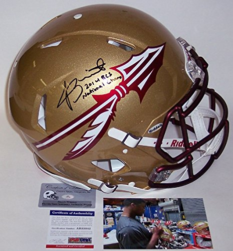 Pro Line Authentic Football Helmet - Jameis Winston - Autographed Official Full Size Riddell Speed Authentic Proline Football Helmet - FSU Florida State Seminoles - PSA/DNA