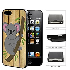 Koala Bear Hanging From Tree Branch Hard Plastic Snap On Cell Phone Case Apple iPhone 4 4s