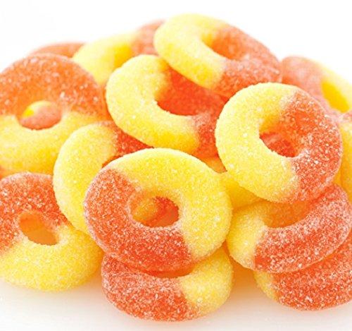 Gummi Peach Rings 1 pound bulk gummy candy gummy rings -