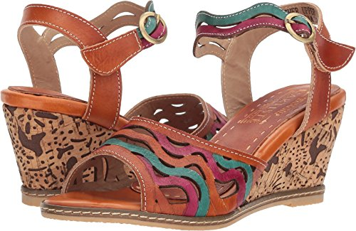 L'Artiste by Spring Step Women's Style Melania Camel EURO Size 35 Leather Sandal