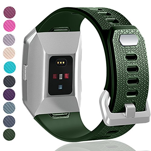 GEAK For Fitbit Ionic Bands for Women Men,Replacement Bands for Fitbit Ionic Large Olive green