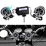 Innoglow Motorcycle Audio Radio Handlebar Amplifier Stereo Speaker System FM MP3 2 Speakers for Honda VT Shadow Spirit Velorex Deluxe 600 750 1100