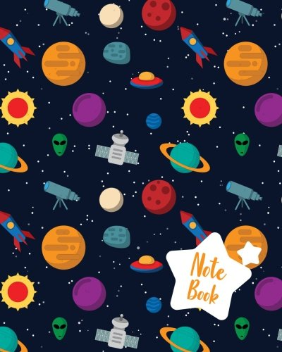 """Download Notebook: Space Planet Notebook Journal Diary, 120 Lined pages, 8"""" x 10"""" ebook"""