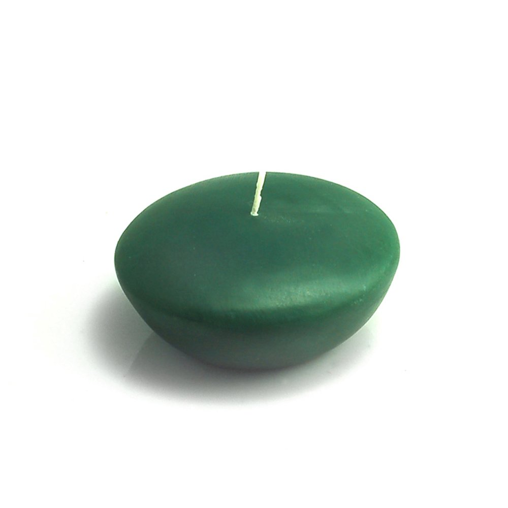 Zest Candle CFZ-060_12 144-Piece Floating Candle, 3'', Hunter Green
