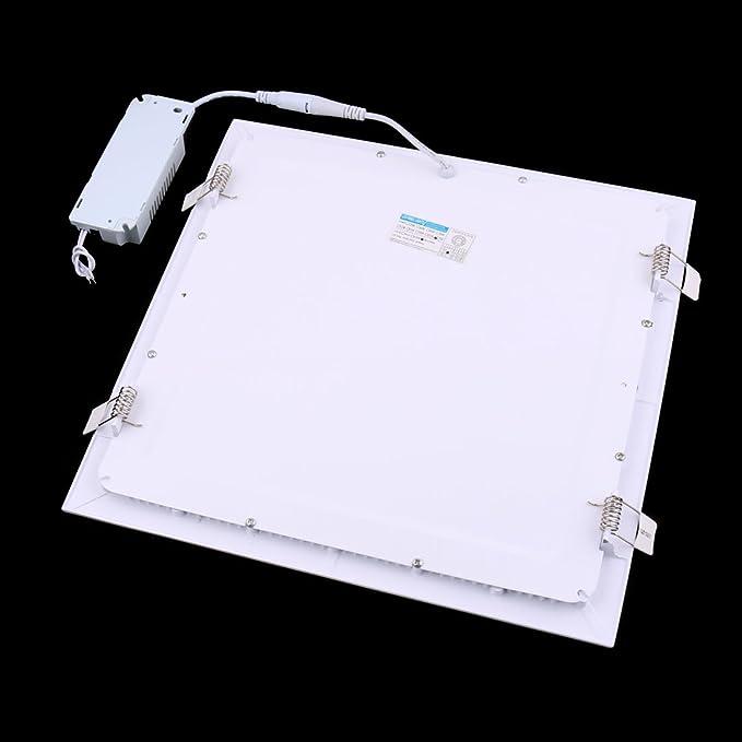 eDealMax blanco cálido 25W Plaza Aseo regulable LED de techo empotrada panel abajo luz AC85-265V - - Amazon.com