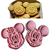 1 Set Cute Mickey Mouse Design Baking Cookie Fondant Cake SugarCraft Biscuit Chocolate Clays DIY Modelling Paste Decorating Plunger Cutter Pull Press Mold Tools Tool