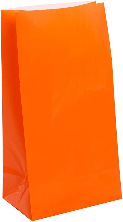 Unique Party 12 bolsas de regalo de papel, color naranja, paquete de 30 (59013): Amazon.es: Juguetes y juegos