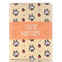 10.5 Cartoon Cover Case Little Rabbit, iPad Pro 10.5 inch Case, Cut Cover Simple Luxury Folio Case Stand with Card Slots PU Leather Smart Screen Protective Cover for iPad Pro10.5