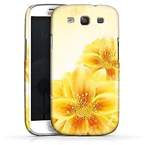 Carcasa Design Funda para Samsung Galaxy S3 i9300 / LTE i9305 PremiumCase white - Yellow Flowers