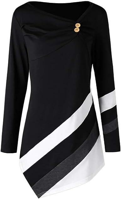 NPRADLA – Camiseta de Manga Larga para Mujer, Elegante ...