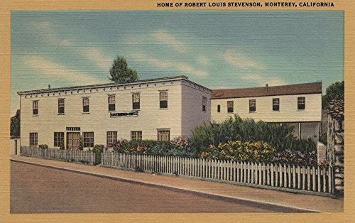 Stevenson Signed - Monterey, CA - Home of Robert Louis Stevenson (12x18 SIGNED Print Master Art Print w/Certificate of Authenticity - Wall Decor Travel Poster)