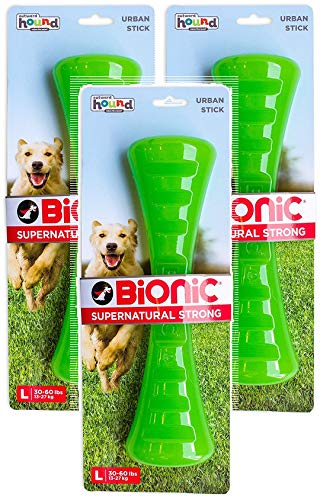 (Petstages 3 Pack of Bionic Urban Stick Durable Tough Fetch and Chew Toy for Dogs, Large 30-60 Pounds)