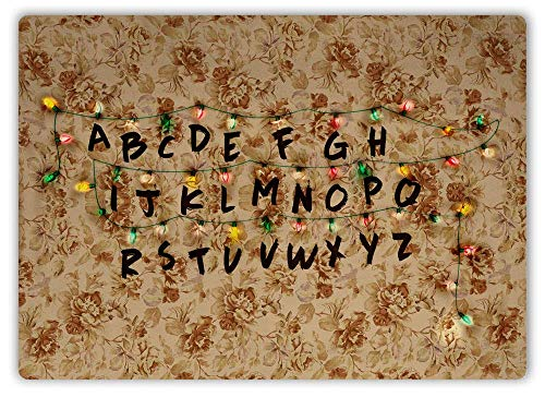 Stranger Fairy Lights Art Things Monster Upside Down 80s Decor Novelty Art Sign Size 8x12 inch]()