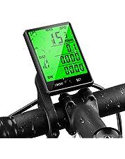 mixigoo Fietscomputer, draadloos, 22 functies, IP65 waterdicht, snelheidsmeter, lcd-achtergrondverlichting, snelheid wielcomputer voor wielrennen, realtime speed track