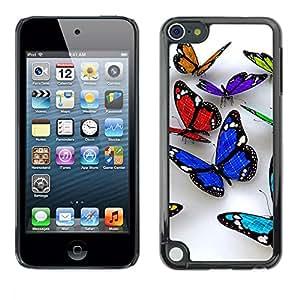 [Neutron-Star] Snap-on Series Teléfono Carcasa Funda Case Caso para Apple iPod Touch 5 [Butterfly 3D Naturaleza Blanca Limpieza de Primavera]