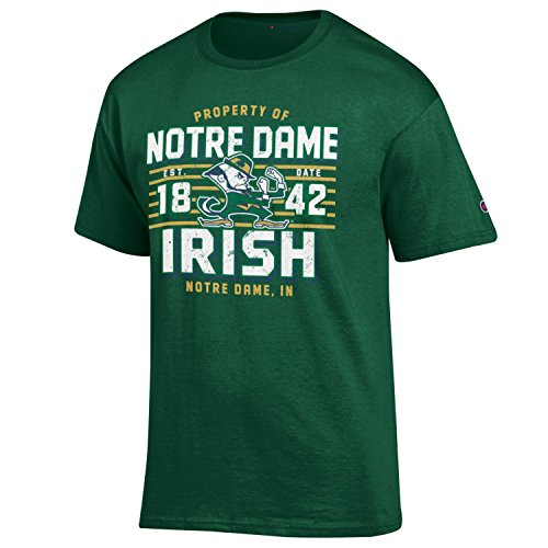 Fighting Irish Green Jersey - NCAA Notre Dame Fighting Irish Men's Champion Men's Lateral Short sleeve T-Shirt, X-Large, Dark Green
