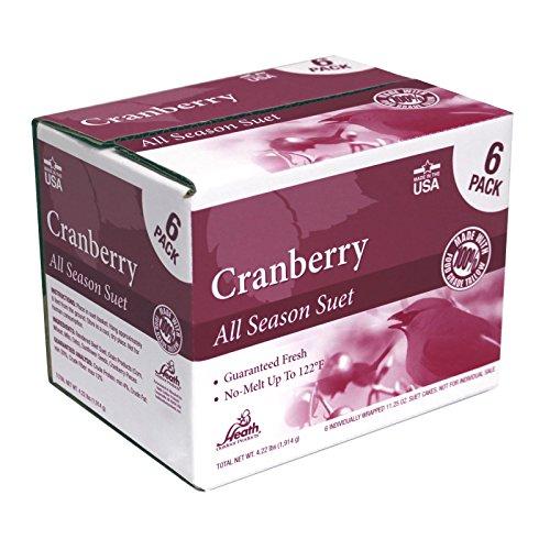 Heath Outdoor Products DD27-6 All Season Cranberry Suet Cake, 6-Pack by Heath Outdoor Products