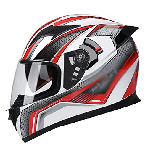 LIXIAOHONGG Full Face Motorfiets Crash Helmen, Motor Crash Modulaire Helm ECE Goedgekeurd, Racing Motorhelm Met…