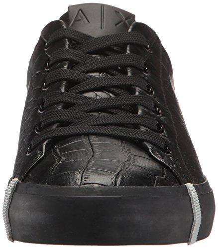 Armani Exchange Women's Croc Low Top Sneaker Nero 4pF50cjlu6