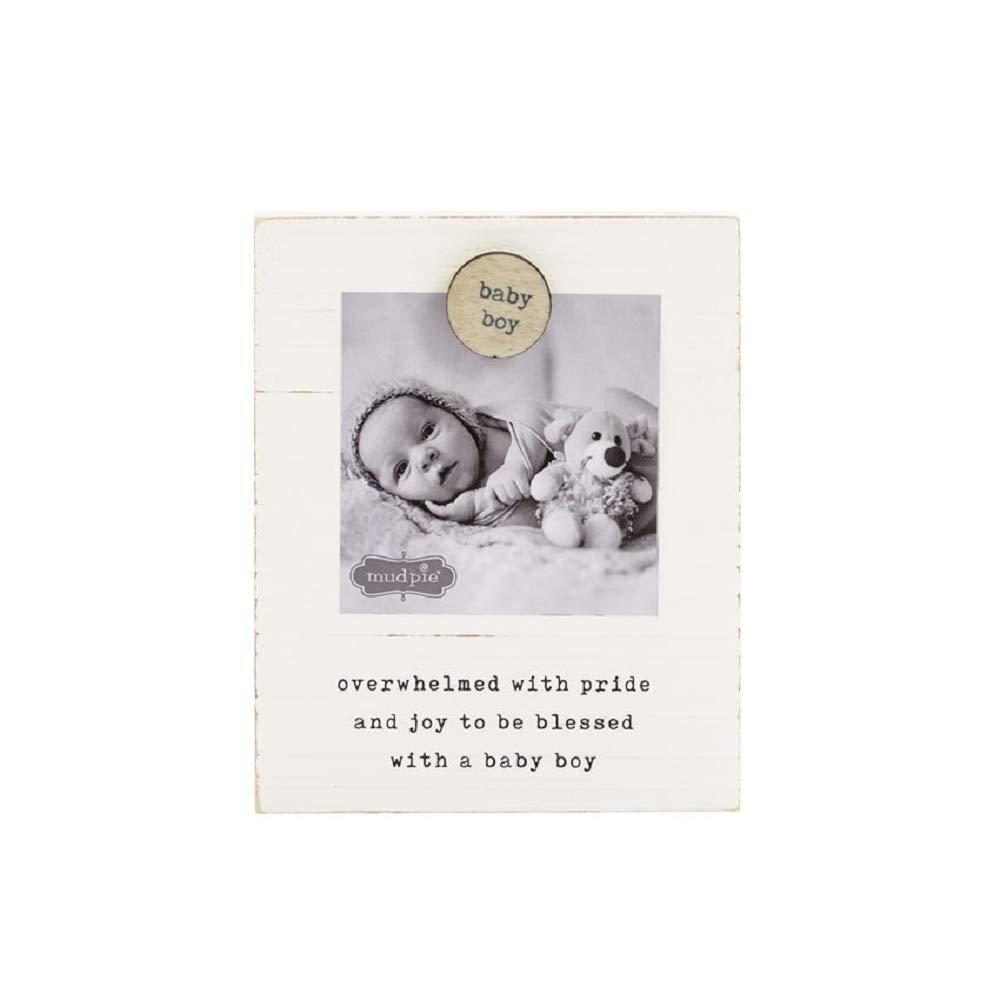 Mud Pie Baby Boy Magnetic Wood Frame