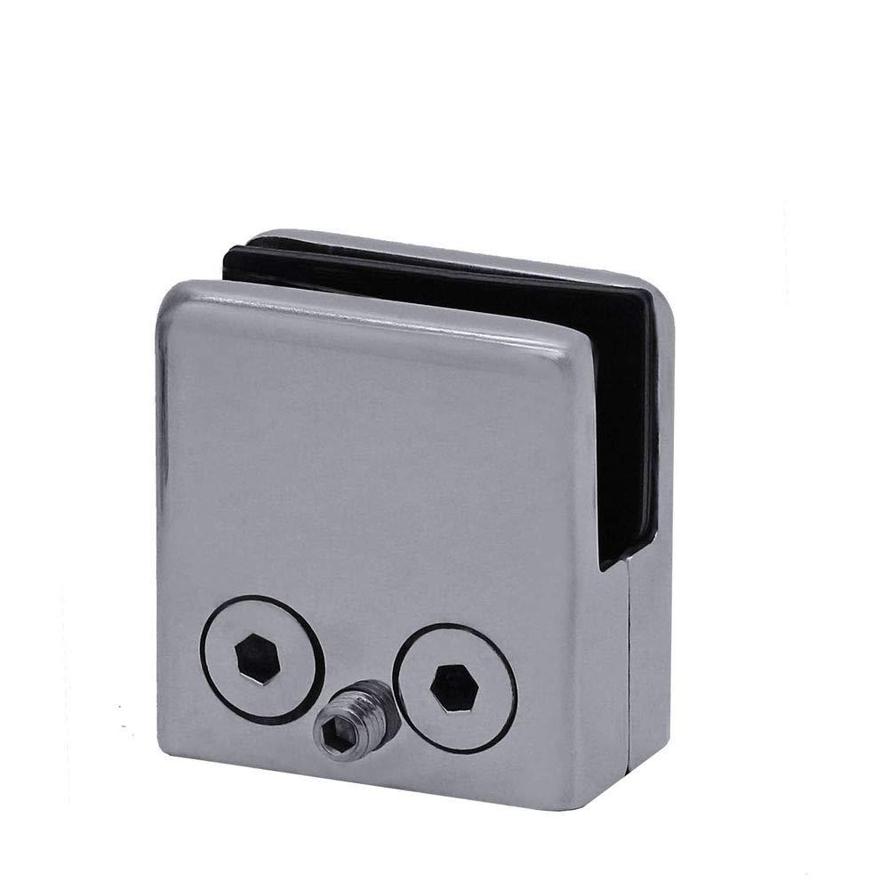 8mm 4 Stk. Modell:Mod3 Edelstahl Glas-Halter Klemme Klemmhalter Befestigung Gel/änder Bad Dusche Flach Matt Glanz Eckig Rund 8mm 10mm 12mm matt
