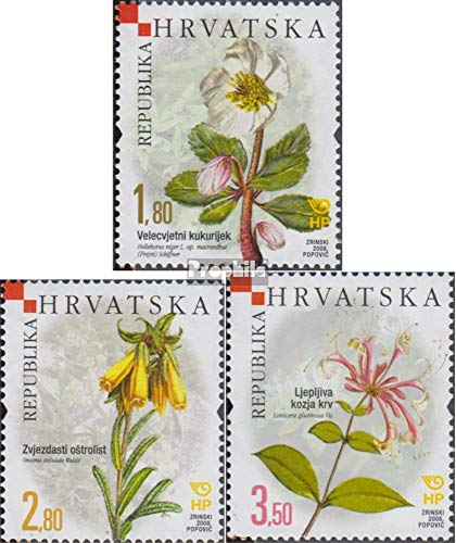 Croatia 840-842 (Complete Issue) 2008 Plants (Stamps for Collectors) Plants