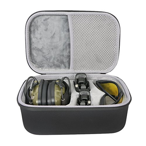 co2CREA Hard Travel Storage Carrying Case Bag for Howard Leight Impact Sport OD Electric Earmuff + Maglula ltd. UpLULA Pistol Magazine ()