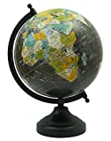 Desktop Rotating Globe Table Decor World Earth Black Ocean Geography 12.5''