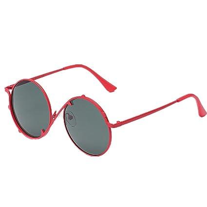 Niños Gafas de sol de las muchachas de la personalidad Marco de metal durable Gafas de