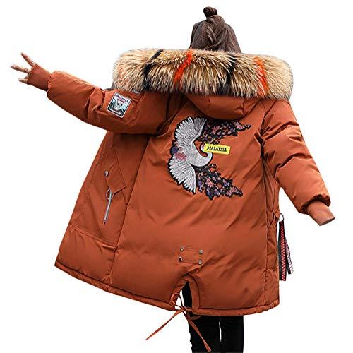 Casual Plus Thick Solid Coat Winter Parka Ricamo Slim qwPx5X8z