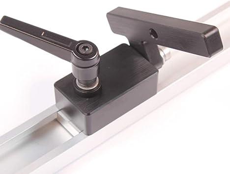 KKmoon Lavorazione del Legno Strumenti T-Slot Fai da Te Mitre Track Stopper Lega di Alluminio Chute Limit Flip Manuale