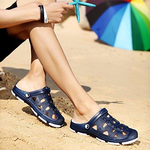 Sommer Das neue Männer Atmungsaktiv Anpassung an alle Arten von Spiel Freizeit Loch Schuh Trend Dualer Gebrauch Strand Sandalen ,blau,US=9,UK=8.5,EU=42 2/3,CN=44