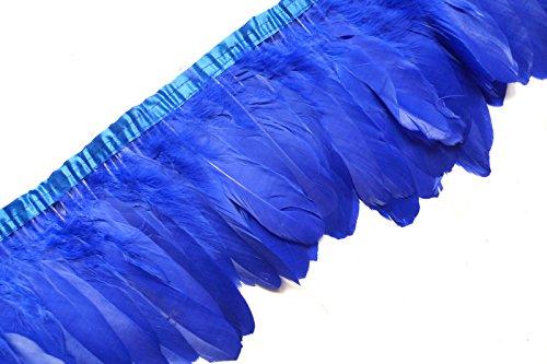 Sowder Royal Blue Duck Goose Feather Trim Fringe 2 Yards